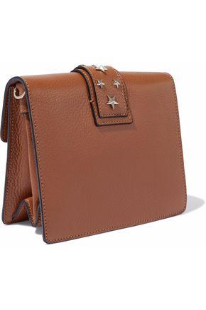 RED(V) Studded textured-leather shoulder bag