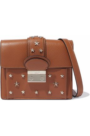 RED(V) Studded textured-leather shoulder bag
