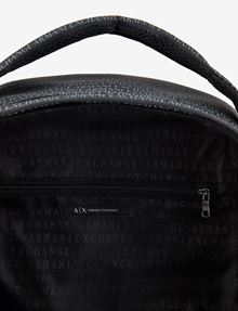 ARMANI EXCHANGE ALLOVER LOGO PRINT BACKPACK Backpack [*** pickupInStoreShippingNotGuaranteed_info ***] e
