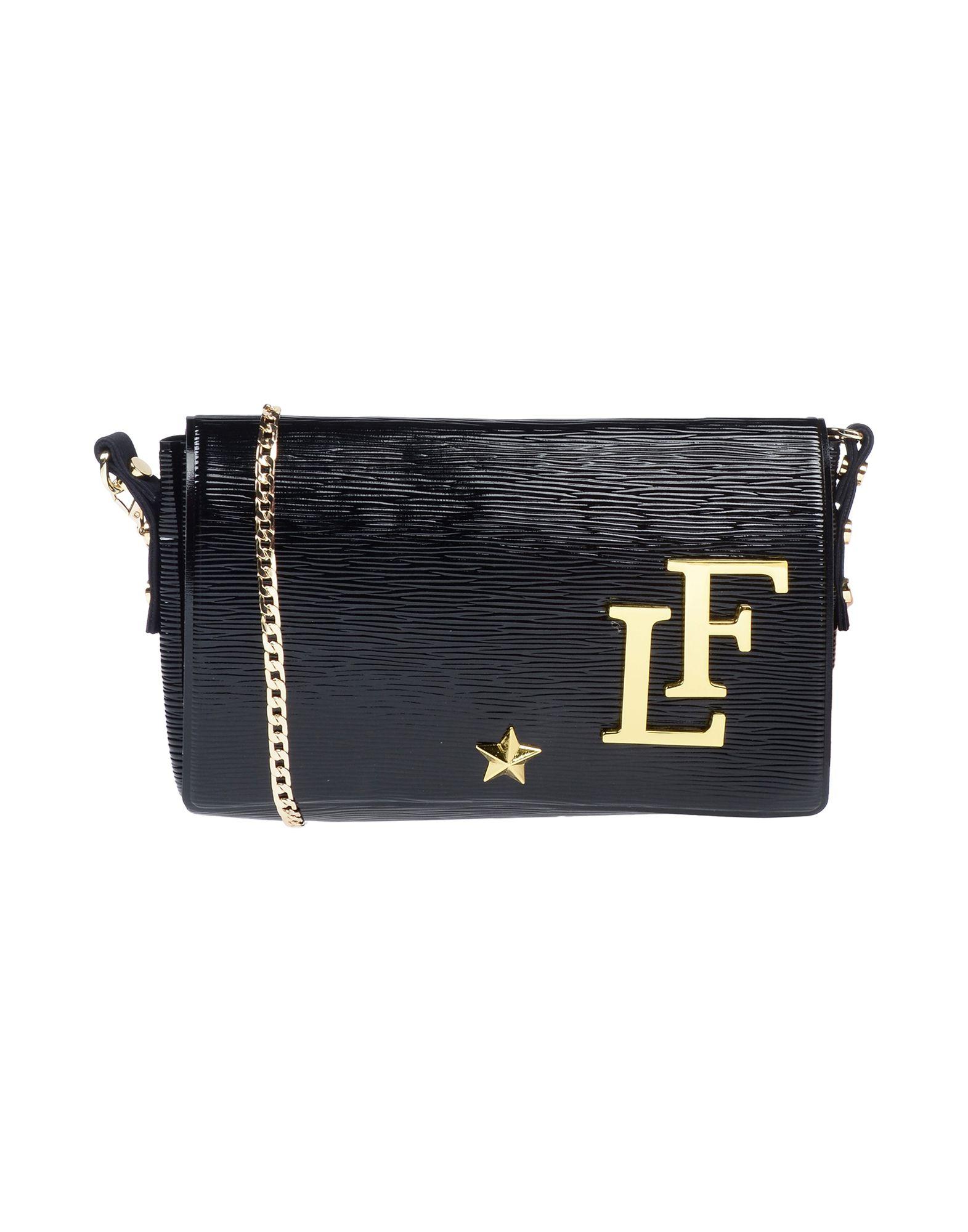 《送料無料》LA FILLE des FLEURS レディース ハンドバッグ ブラック 紡績繊維