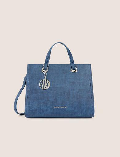 a2b9e9b346de Armani exchange medium contrast stitch satchel bag jpg 390x509 Armani  exchange satchel