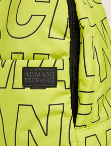 ARMANI EXCHANGE ALLOVER LOGO PUFFY BACKPACK Backpack [*** pickupInStoreShippingNotGuaranteed_info ***] a