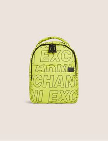 ARMANI EXCHANGE ALLOVER LOGO PUFFY BACKPACK Backpack Man f