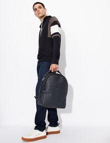 ARMANI EXCHANGE ALLOVER LOGO PRINT BACKPACK Backpack [*** pickupInStoreShippingNotGuaranteed_info ***] r