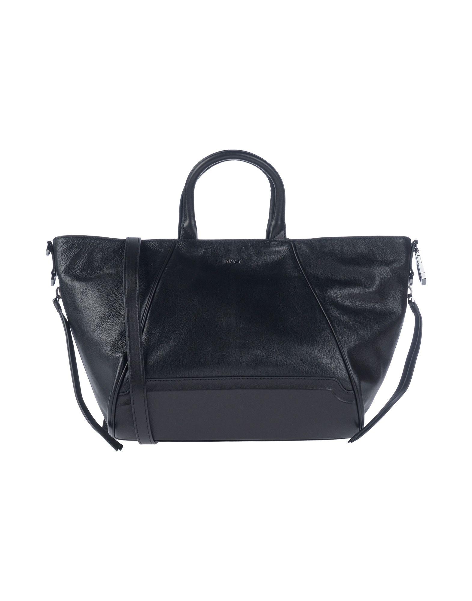 《送料無料》DKNY レディース ハンドバッグ ブラック 山羊革 100% / 牛革