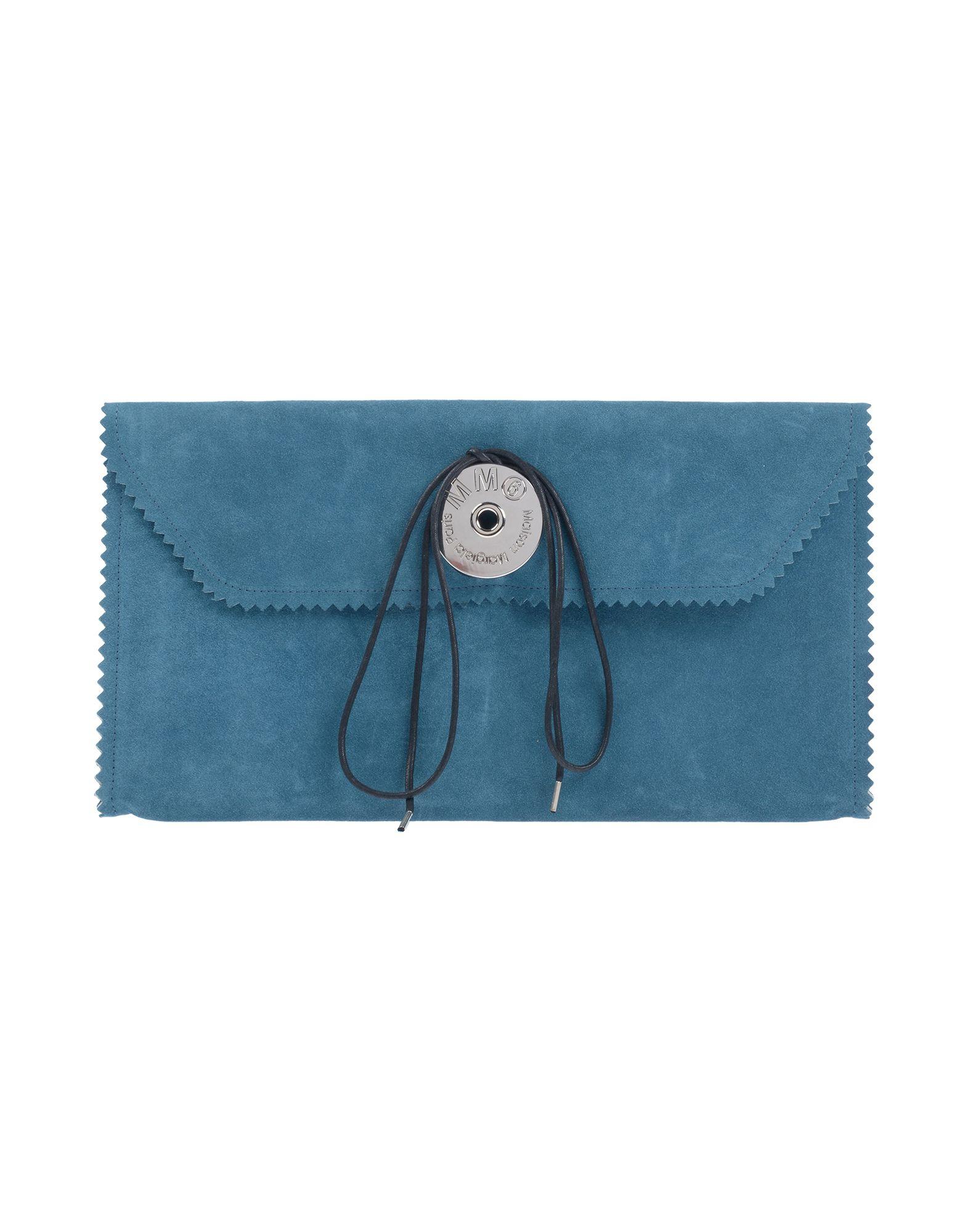 《送料無料》MM6 MAISON MARGIELA レディース ハンドバッグ ブルーグレー 革 100% / 指定外繊維(紙)