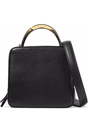 THE VOLON Cube textured-leather shoulder bag