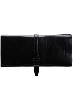 ANN DEMEULEMEESTER Textured-leather clutch