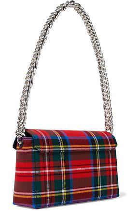 CHRISTOPHER KANE Devine checked flannel shoulder bag