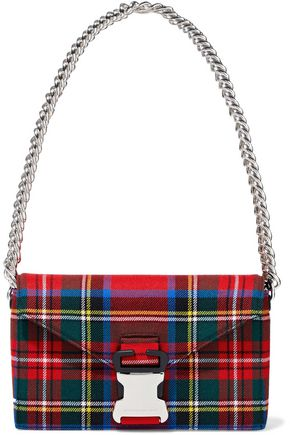 CHRISTOPHER KANE Devine checked twill shoulder bag