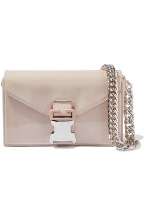 CHRISTOPHER KANE Devine chain-trimmed patent-leather shoulder bag