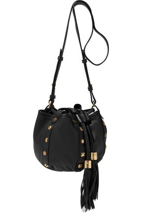 SEE BY CHLOÉ Studded textured-leather bucket bag