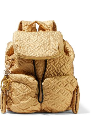 SEE BY CHLOÉ Metallic quilted shell backpack