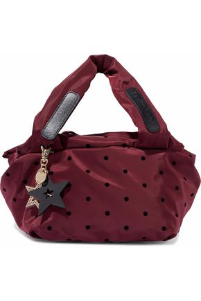 SEE BY CHLOÉ Joy Rider flocked polka-dot shell shoulder bag