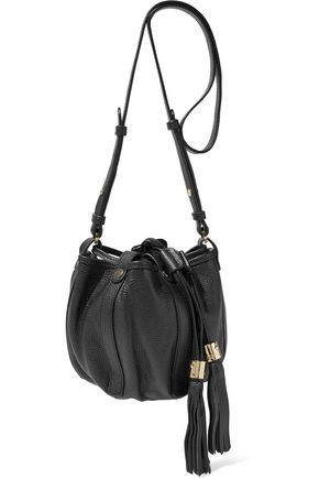 SEE BY CHLOÉ Vicki tasseled textured-leather bucket bag
