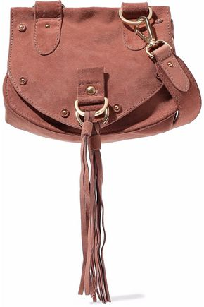 SEE BY CHLOÉ Suede and leather shoulder bag