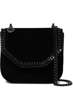 STELLA McCARTNEY Chain-trimmed velvet shoulder bag