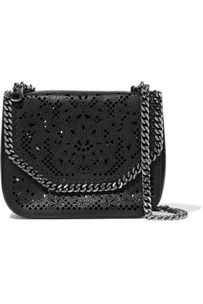 STELLA McCARTNEY Laser-cut faux leather shoulder bag