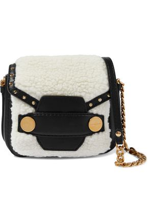 STELLA McCARTNEY Alter faux shearling and leather shoulder bag