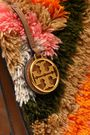TORY BURCH Sadie fringed yarn and leather shoulder bag