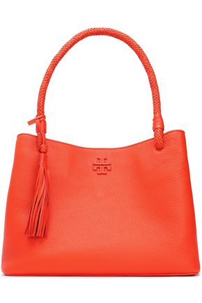 Tory Burch Taylor Tasseled Textured Leather Tote