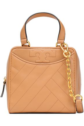 TORY BURCH Alexa topstitched leather shoulder bag