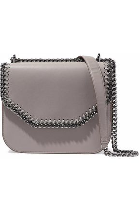 31e7c609858d STELLA McCARTNEY Falabella Box chain-trimmed faux leather shoulder bag