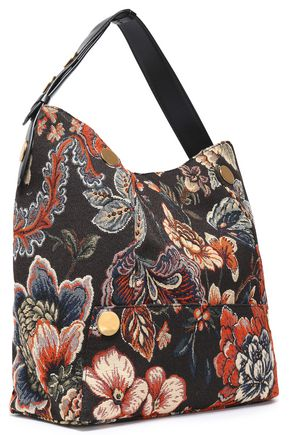 STELLA McCARTNEY Popper floral-jacquard shoulder bag