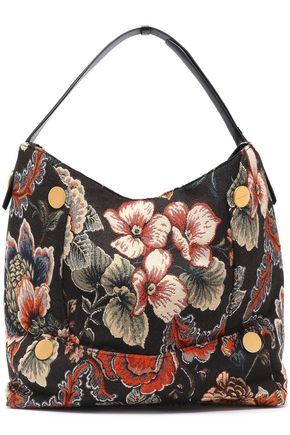 STELLA McCARTNEY Floral-jacquard shoulder bag
