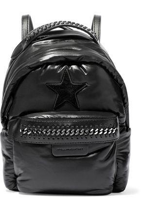 STELLA McCARTNEY Falabella Mini GO Star chain-trimmed shell backpack