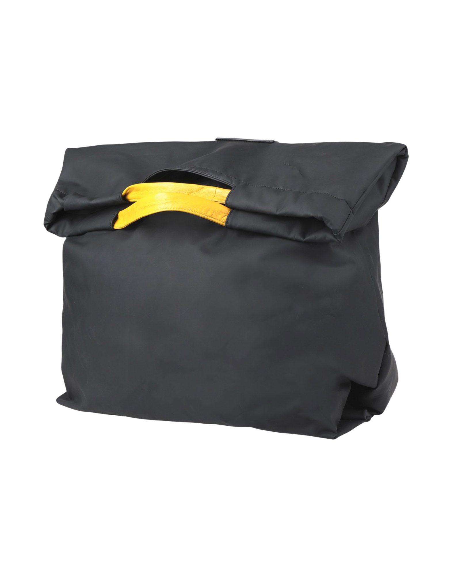 《セール開催中》MAISON MARGIELA メンズ 旅行バッグ ブラック ポリエステル 100% / 牛革
