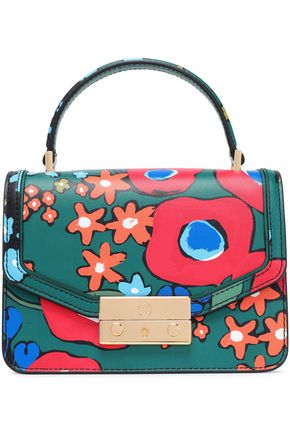 TORY BURCH Printed leather shoulder bag