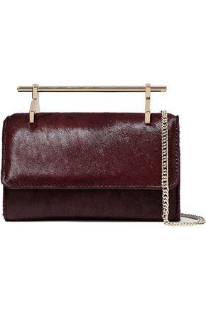 M2MALLETIER Metallic leather shoulder bag
