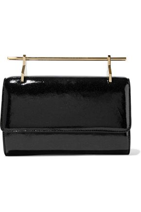 M2MALLETIER Fabricca distressed metallic calf hair clutch