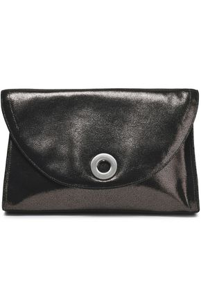 HALSTON HERITAGE Brushed-leather clutch