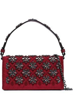 TORY BURCH Cleo embellished satin shoulder bag