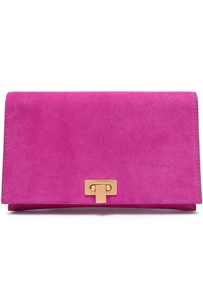TORY BURCH Suede clutch