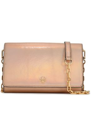 TORY BURCH Robinson iridescent leather shoulder bag