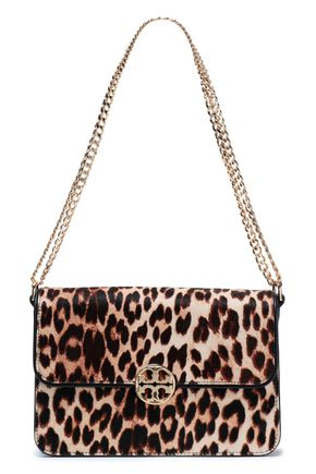 TORY BURCH Leopard-print calf hair shoulder bag