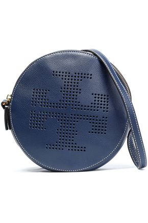 TORY BURCH Perforated leather shoulder bag
