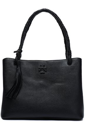 TORY BURCH Taylor tasseled textured-leather tote