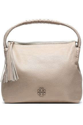 TORY BURCH Tasseled leather shoulder bag