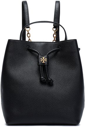 TORY BURCH Georgia embellished textured-leather backpack