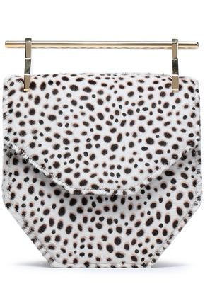 M2MALLETIER Amor animal-print calf hair clutch
