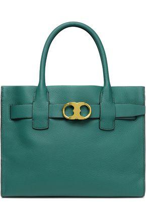 TORY BURCH Gemini textured-leather shoulder bag