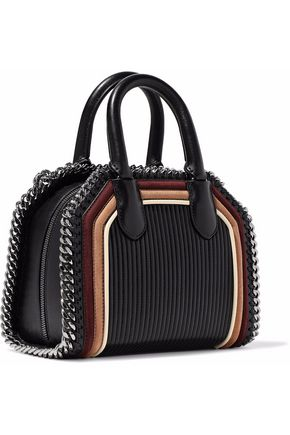 STELLA McCARTNEY Chain-trimmed quilted faux suede and leather tote