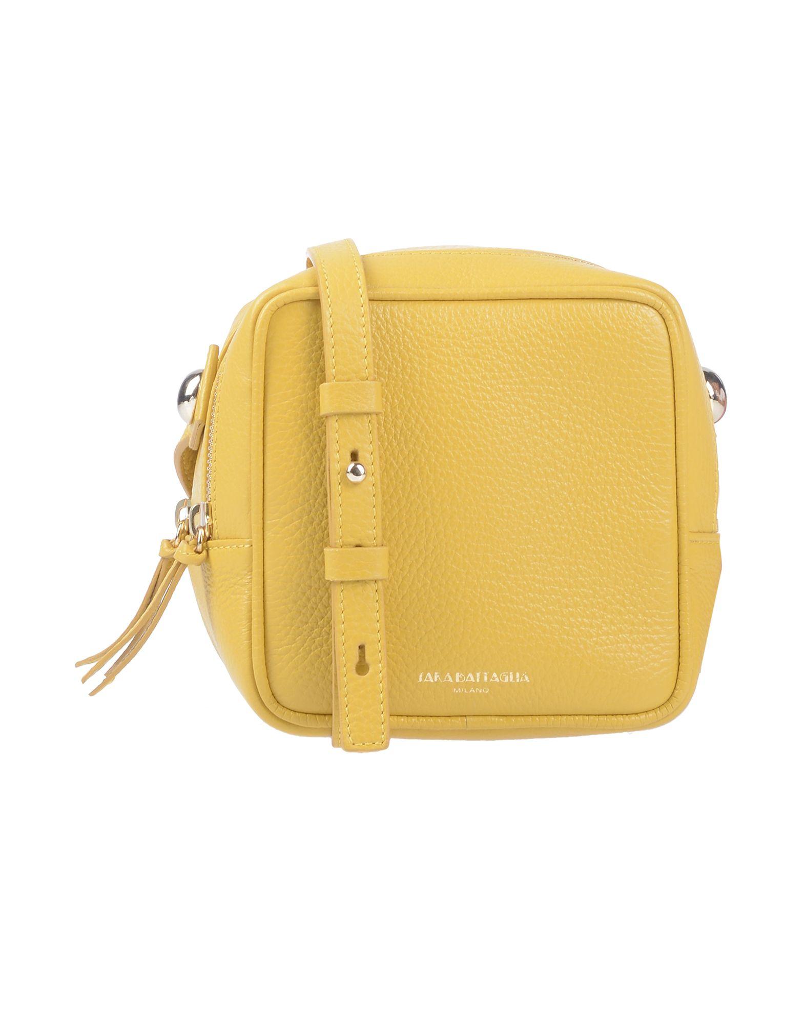 Сумка через плечо  Белый,Желтый цвета