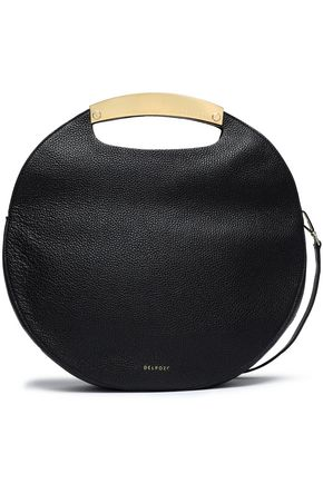 DELPOZO Textured-leather shoulder bag
