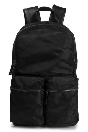 VALENTINO GARAVANI Leather-trimmed shell backpack