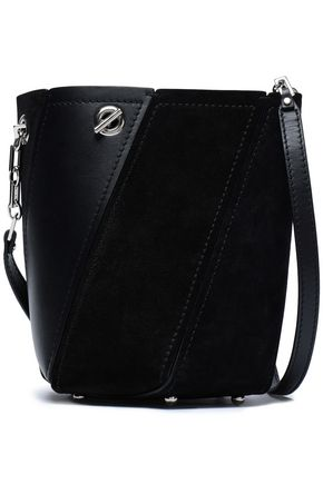 PROENZA SCHOULER Whipstitch-trimmed leather and suede bucket bag